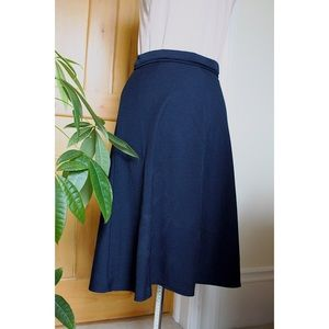 50s-60s Retro-Looking A-Line Blue Skirt